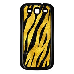 Skin3 Black Marble & Gold Paint Samsung Galaxy S3 Back Case (black) by trendistuff
