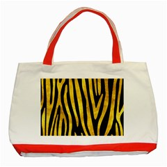 Skin4 Black Marble & Gold Paint Classic Tote Bag (red) by trendistuff