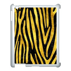 Skin4 Black Marble & Gold Paint Apple Ipad 3/4 Case (white) by trendistuff