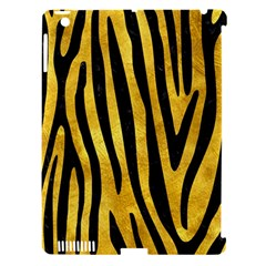 Skin4 Black Marble & Gold Paint (r) Apple Ipad 3/4 Hardshell Case (compatible With Smart Cover) by trendistuff