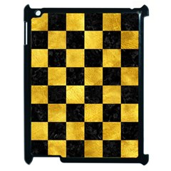 Square1 Black Marble & Gold Paint Apple Ipad 2 Case (black) by trendistuff