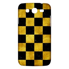 Square1 Black Marble & Gold Paint Samsung Galaxy Mega 5 8 I9152 Hardshell Case  by trendistuff