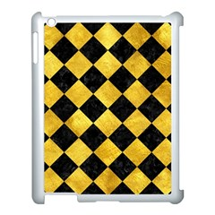 Square2 Black Marble & Gold Paint Apple Ipad 3/4 Case (white) by trendistuff