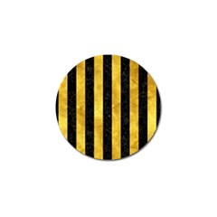 Stripes1 Black Marble & Gold Paint Golf Ball Marker (4 Pack) by trendistuff