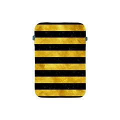 Stripes2 Black Marble & Gold Paint Apple Ipad Mini Protective Soft Cases by trendistuff