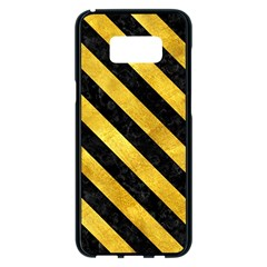 Stripes3 Black Marble & Gold Paint Samsung Galaxy S8 Plus Black Seamless Case by trendistuff