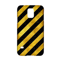 Stripes3 Black Marble & Gold Paint (r) Samsung Galaxy S5 Hardshell Case  by trendistuff
