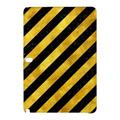 Stripes3 Black Marble & Gold Paint (r) Samsung Galaxy Tab Pro 12 2 Hardshell Case by trendistuff