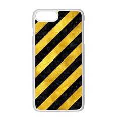 Stripes3 Black Marble & Gold Paint (r) Apple Iphone 7 Plus Seamless Case (white) by trendistuff