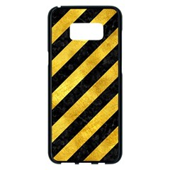Stripes3 Black Marble & Gold Paint (r) Samsung Galaxy S8 Plus Black Seamless Case by trendistuff