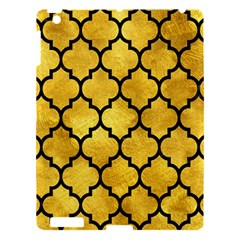Tile1 Black Marble & Gold Paint Apple Ipad 3/4 Hardshell Case by trendistuff