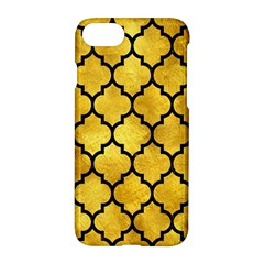 Tile1 Black Marble & Gold Paint Apple Iphone 8 Hardshell Case by trendistuff
