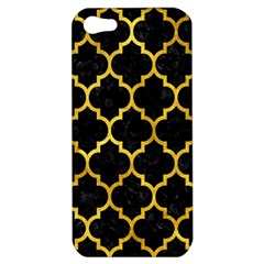 Tile1 Black Marble & Gold Paint (r) Apple Iphone 5 Hardshell Case by trendistuff