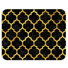 Tile1 Black Marble & Gold Paint (r) Double Sided Flano Blanket (medium)  by trendistuff