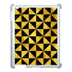 Triangle1 Black Marble & Gold Paint Apple Ipad 3/4 Case (white) by trendistuff