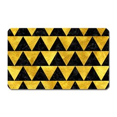 Triangle2 Black Marble & Gold Paint Magnet (rectangular) by trendistuff