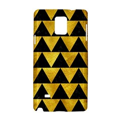 Triangle2 Black Marble & Gold Paint Samsung Galaxy Note 4 Hardshell Case by trendistuff
