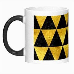 Triangle3 Black Marble & Gold Paint Morph Mugs by trendistuff