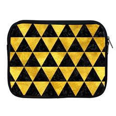 Triangle3 Black Marble & Gold Paint Apple Ipad 2/3/4 Zipper Cases by trendistuff