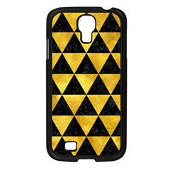 Triangle3 Black Marble & Gold Paint Samsung Galaxy S4 I9500/ I9505 Case (black) by trendistuff