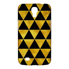 Triangle3 Black Marble & Gold Paint Samsung Galaxy Mega 6 3  I9200 Hardshell Case by trendistuff