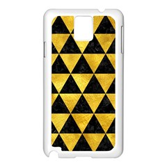 Triangle3 Black Marble & Gold Paint Samsung Galaxy Note 3 N9005 Case (white) by trendistuff
