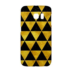 Triangle3 Black Marble & Gold Paint Galaxy S6 Edge by trendistuff