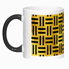 Woven1 Black Marble & Gold Paint Morph Mugs by trendistuff
