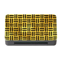 Woven1 Black Marble & Gold Paint Memory Card Reader With Cf by trendistuff