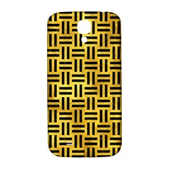 Woven1 Black Marble & Gold Paint Samsung Galaxy S4 I9500/i9505  Hardshell Back Case by trendistuff