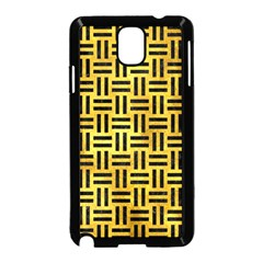 Woven1 Black Marble & Gold Paint Samsung Galaxy Note 3 Neo Hardshell Case (black) by trendistuff