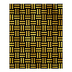 Woven1 Black Marble & Gold Paint (r) Shower Curtain 60  X 72  (medium)  by trendistuff