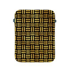 Woven1 Black Marble & Gold Paint (r) Apple Ipad 2/3/4 Protective Soft Cases by trendistuff