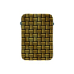 Woven1 Black Marble & Gold Paint (r) Apple Ipad Mini Protective Soft Cases by trendistuff