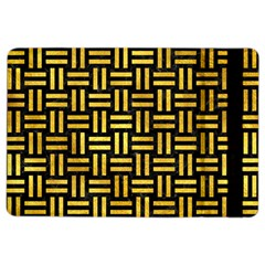 Woven1 Black Marble & Gold Paint (r) Ipad Air 2 Flip by trendistuff