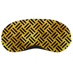 Woven2 Black Marble & Gold Paint Sleeping Masks by trendistuff