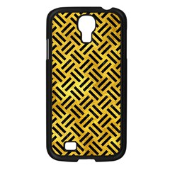 Woven2 Black Marble & Gold Paint Samsung Galaxy S4 I9500/ I9505 Case (black) by trendistuff