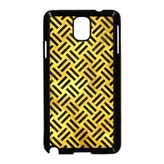 Woven2 Black Marble & Gold Paint Samsung Galaxy Note 3 Neo Hardshell Case (black) by trendistuff
