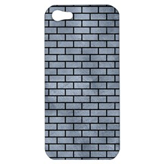 Brick1 Black Marble & Silver Paint Apple Iphone 5 Hardshell Case by trendistuff