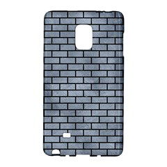 Brick1 Black Marble & Silver Paint Galaxy Note Edge by trendistuff