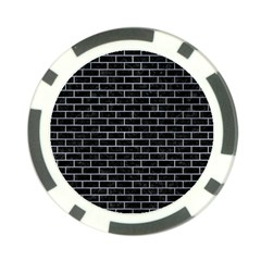 Brick1 Black Marble & Silver Paint (r) Poker Chip Card Guard (10 Pack) by trendistuff