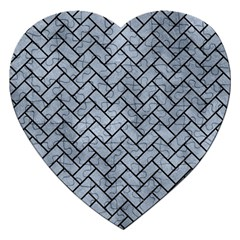 Brick2 Black Marble & Silver Paint Jigsaw Puzzle (heart) by trendistuff