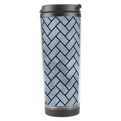 Brick2 Black Marble & Silver Paint Travel Tumbler by trendistuff