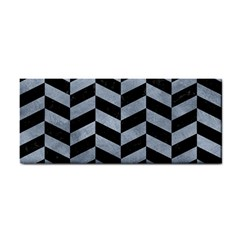 Chevron1 Black Marble & Silver Paint Cosmetic Storage Cases by trendistuff