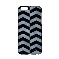 Chevron2 Black Marble & Silver Paint Apple Iphone 6/6s Hardshell Case by trendistuff