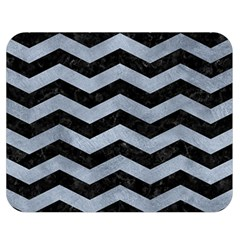 Chevron3 Black Marble & Silver Paint Double Sided Flano Blanket (medium)  by trendistuff