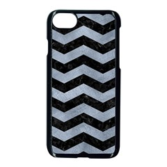 Chevron3 Black Marble & Silver Paint Apple Iphone 7 Seamless Case (black) by trendistuff