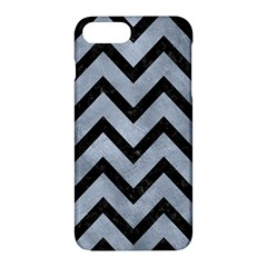 Chevron9 Black Marble & Silver Paint Apple Iphone 7 Plus Hardshell Case by trendistuff