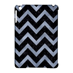 Chevron9 Black Marble & Silver Paint (r) Apple Ipad Mini Hardshell Case (compatible With Smart Cover) by trendistuff
