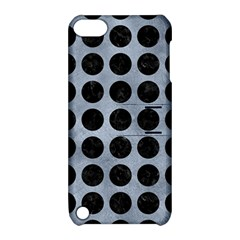 Circles1 Black Marble & Silver Paint Apple Ipod Touch 5 Hardshell Case With Stand by trendistuff